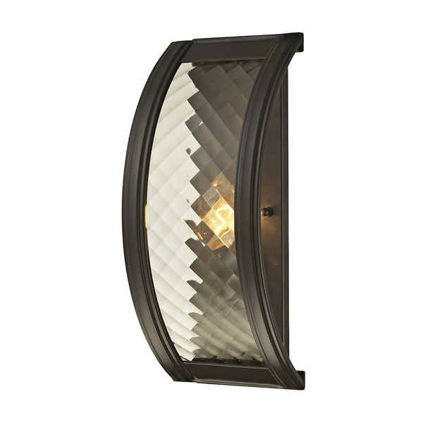Chandler 1 Light Wall Sconce In Oil Rubbed Bronze And Champagne Glass