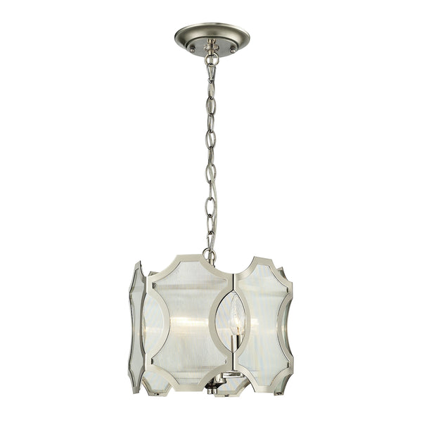 Benicia 3 Light Pendant In Polished Nickel