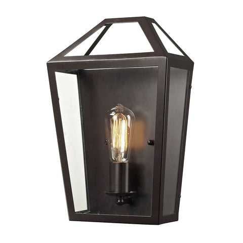 Alanna 1 Light Wall Sconce In Oil Rubbed Bronze And Clear Glass