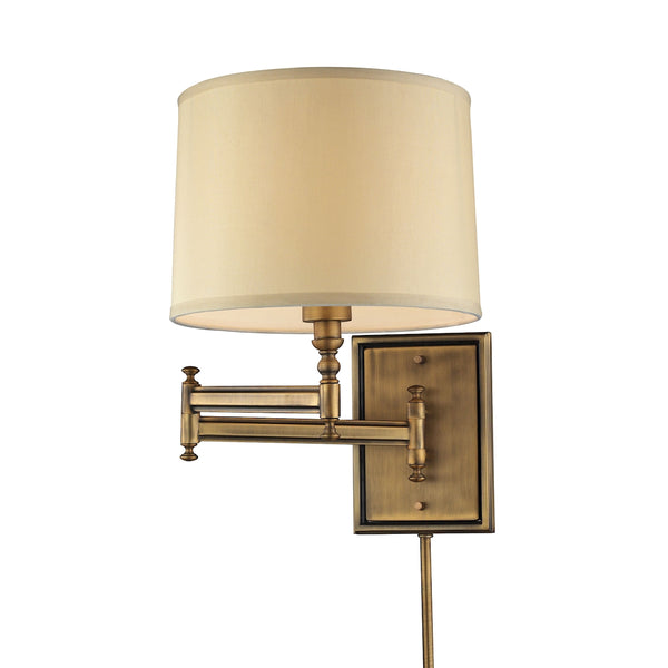 Swingarms 1 Light Swingarm Sconce In Brushed Antique Brass