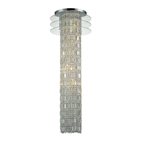 Zoey 6 Light Chandelier In Polished Chrome And Clear Crystal