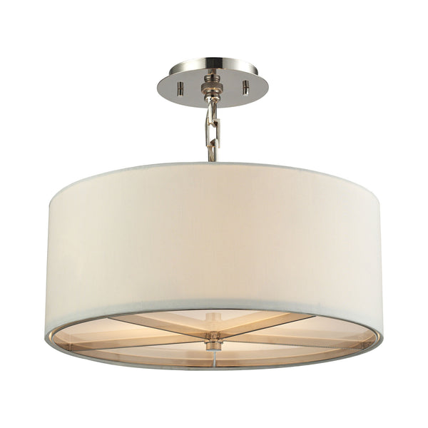 Selma 3 Light Pendant In Polished Nickel - Small
