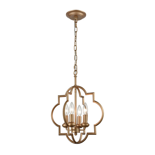 Chandette 4 Light Chandelier In Matte Gold