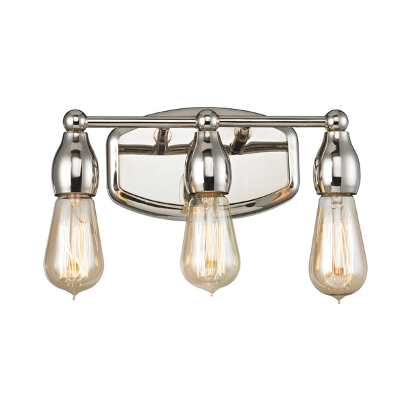 Vernon 3 Light Vanity In Polished Nickel
