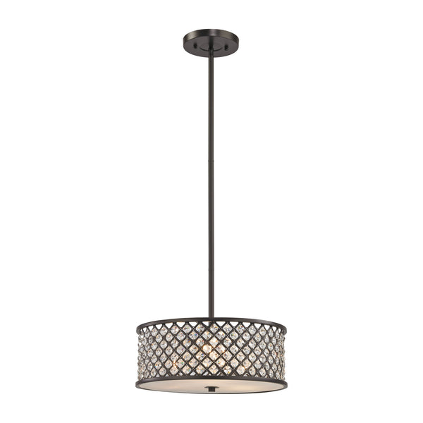 Genevieve 3 Light Chandelier In Oil Rubbed Bronze