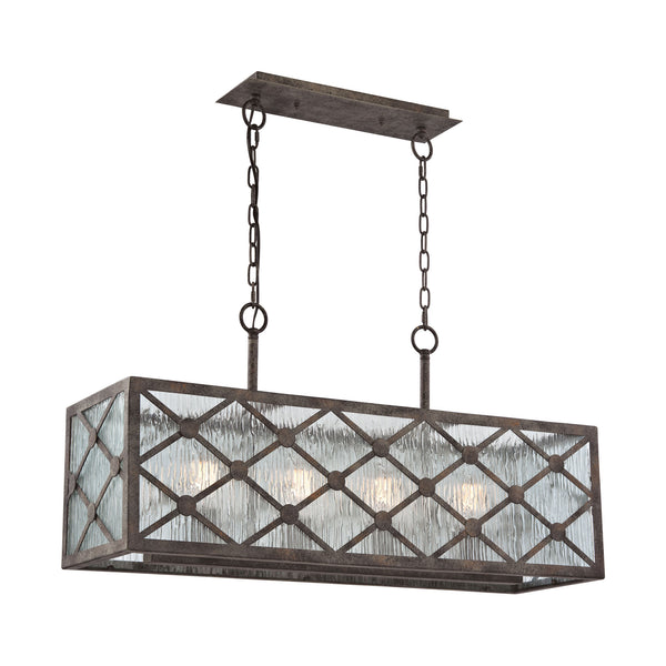 Radley 4 Light Chandelier In Malted Rust
