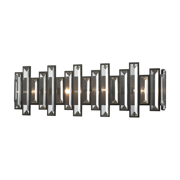 Crystal Heights 4 Light Vanity In Oil Rubbed Bronze With Clear Crystal