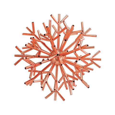 Beautiful Sterling  Ardor Table Sculpture In Bright Copper  in  Metal