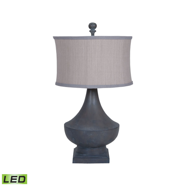 Beautiful GuildMaster  Vintage LED Table Lamp In Heritage Grey Stain  in  Wood, Metal, Fabric
