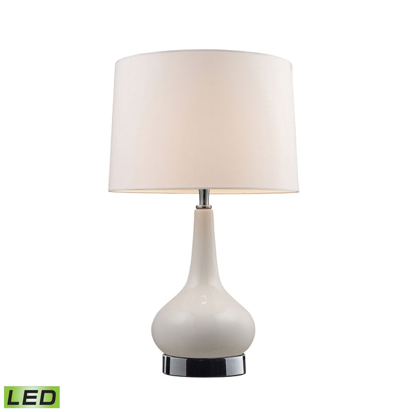 Beautiful Dimond Lighting  Mary-Kate And Ashley Continuum LED Table Lamp In White And Chrome  in  Ceramic