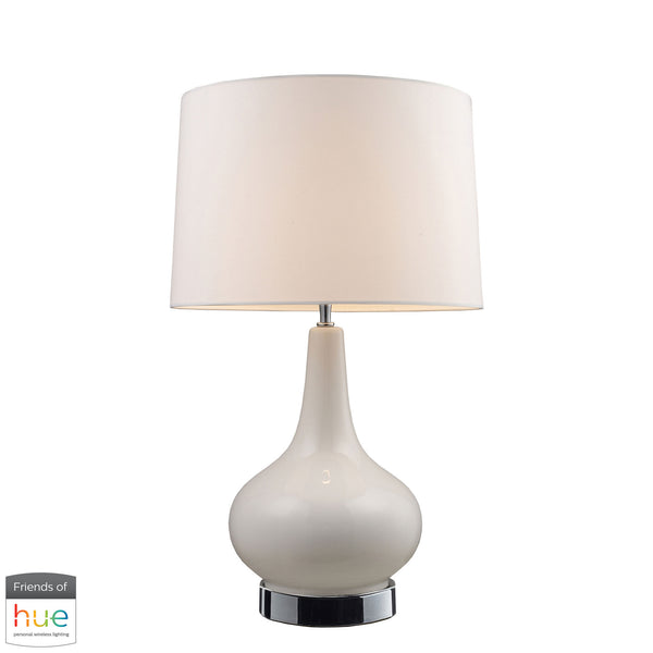 Beautiful Dimond Lighting  Continuum Table Lamp in White with Chrome Hardware - with Philips Hue LED Bulb/Dimmer  in  Ceramic