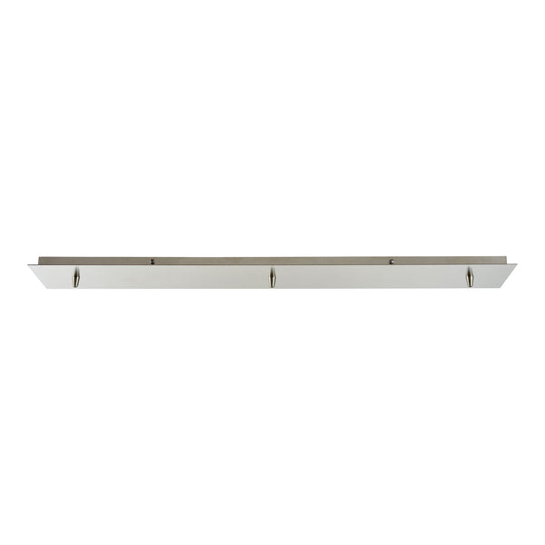 Illuminaire Accessories 3 Light Linear Pan In Satin Nickel