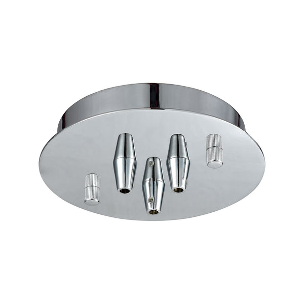 Illuminaire Accessories 3 Light Small Round Canopy In Polished Chrome