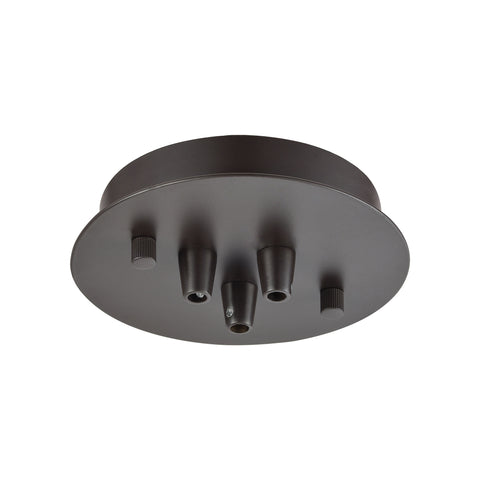 Elk Illuminaire Accessories 3 Light Small Round Canopy In Oil Rubbed Bronze Parts/Hardware item number 3SR-OB