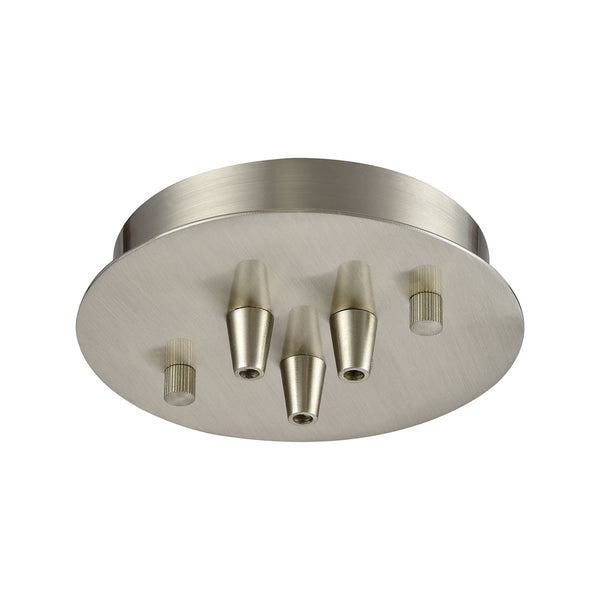 Illuminaire Accessories 3 Light Small Round Canopy In Satin Nickel