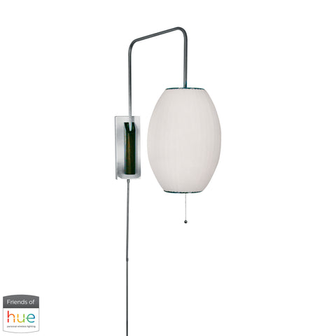 Beautiful Dimond Lighting  Cigar Swingarm Wall Sconce in White - with Philips Hue LED Bulb/Dimmer  in  Metal
