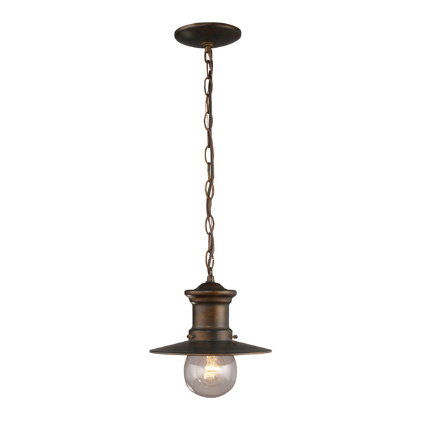 Maritime 1 Light Outdoor Pendant In Hazlenut Bronze