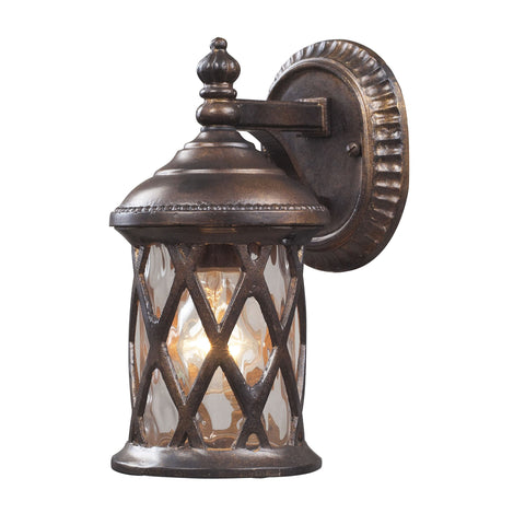 ELK Lighting  Barrington Gate 1-Light Outdoor Sconce in Hazelnut Bronze