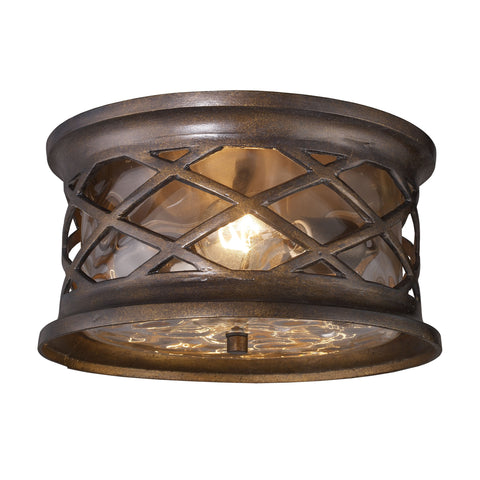 Barrington Gate 2 Light Outdoor Flush Mount In Hazelnut Bronze