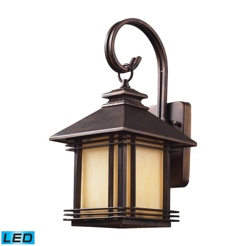 Blackwell 1 Light Outdoor LED Sconce In Hazelnut Bronze