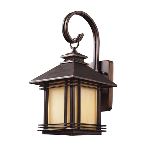 ELK Lighting  Blackwell 1 Light Outdoor Wall Sconce in Hazelnut Bronze