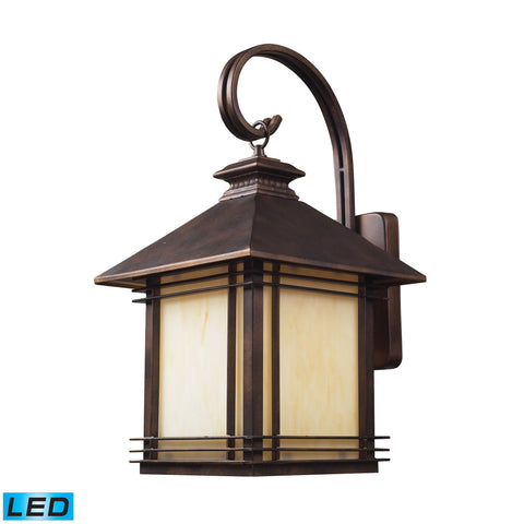 Elk Blackwell 1 Light Outdoor LED Sconce In Hazelnut Bronze Outdoor Wall item number 42102/1-LED