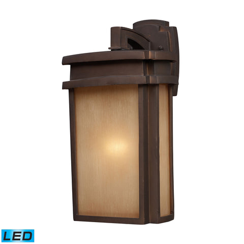 ELK Lighting  1 Light Outdoor Sconce in Clay Bronze - LED Offering Up To 800 Lumens (60 Watt Equivalent) with Full