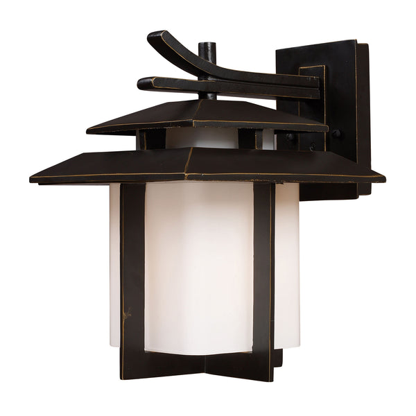Kanso 1 Light Outdoor Sconce In Hazlenut Bronze