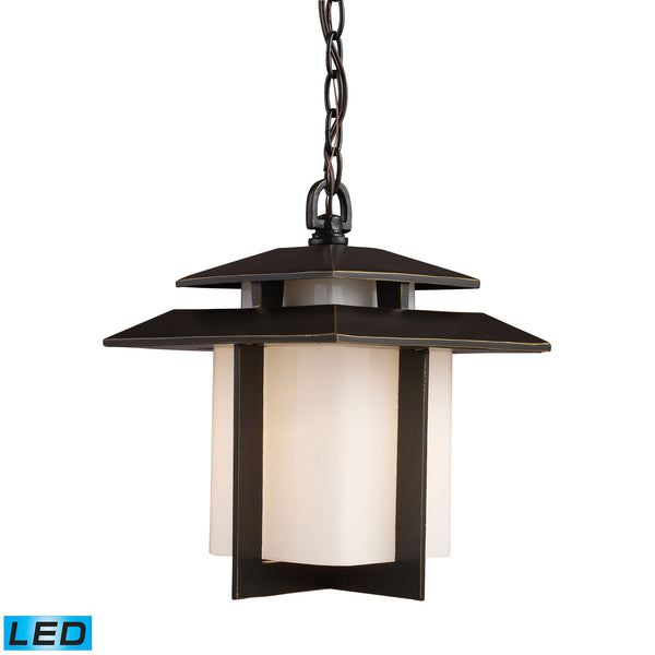 Kanso 1 Light Outdoor LED Pendant In Hazelnut Bronze