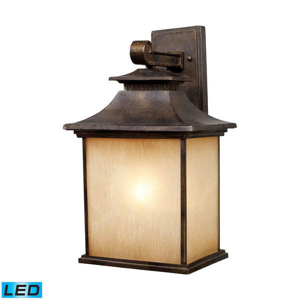 San Gabriel 1 Light Outdoor LED Sconce In Hazelnut Bronze