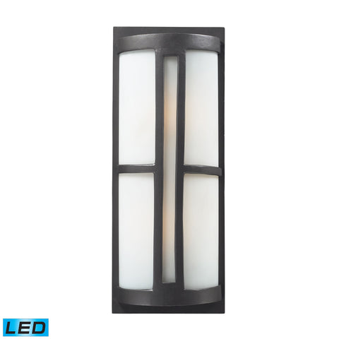 ELK Lighting  2- Light Outdoor Sconce in Graphite - LED, 800 Lumens (1600 Lumens Total) with Full Scale Dimming Ra