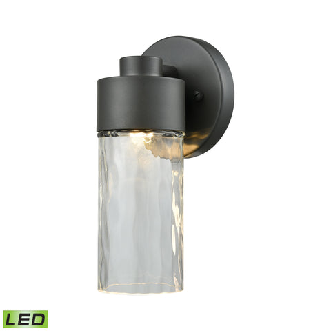 ELK Lighting  Denison Outdoor LED Wall Sconce in Matte Black