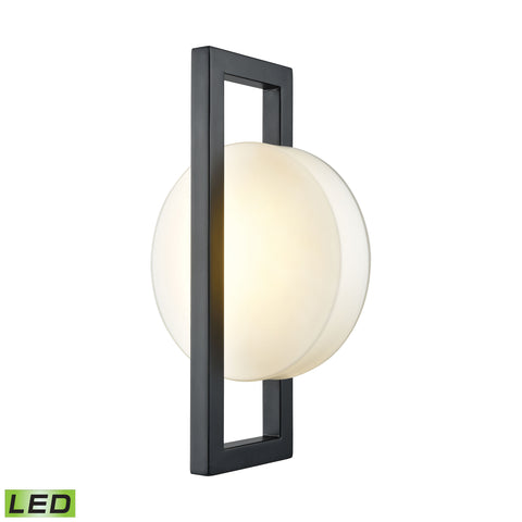 Zulle Outdoor LED Wall Sconce In Matte Black