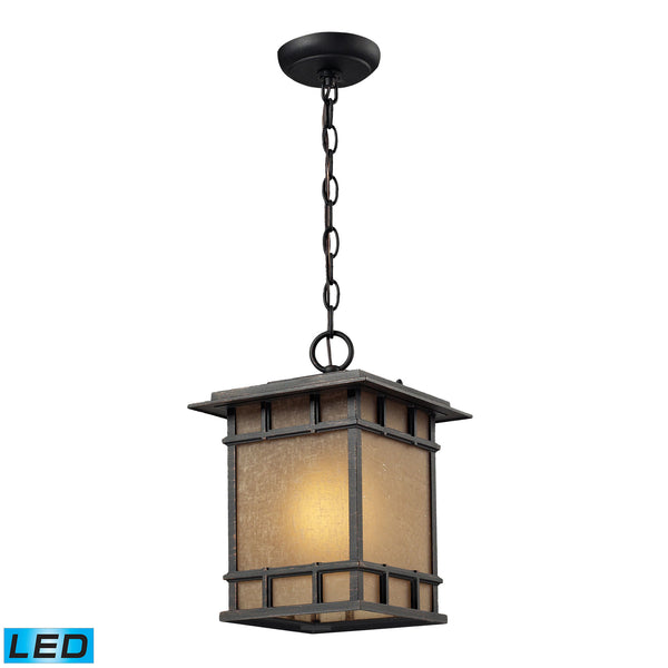 Newlton 1 Light LED Outdoor Pendant In Weathered Charcoal