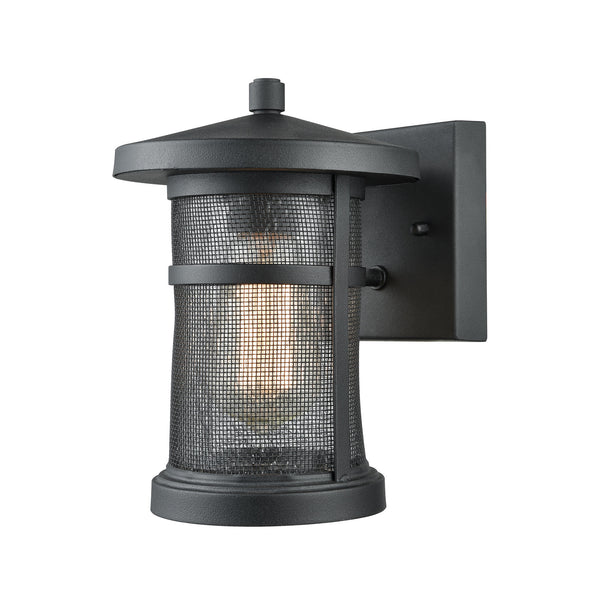 Aspen Lodge 1 Light Outdoor Wall Sconce In Textured Matte Black