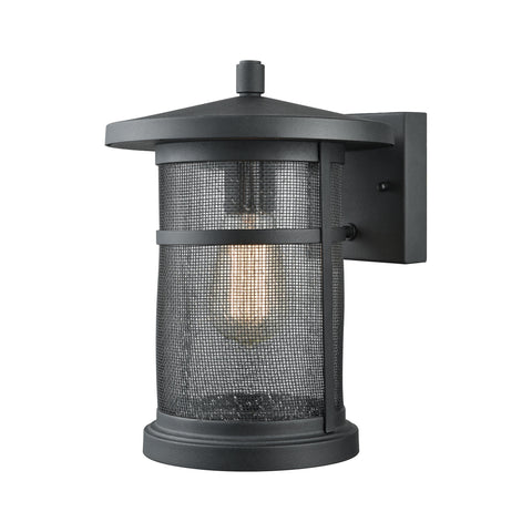 Elk Aspen Lodge 1 Light Outdoor Wall Sconce In Textured Matte Black Outdoor Wall item number 45016/1
