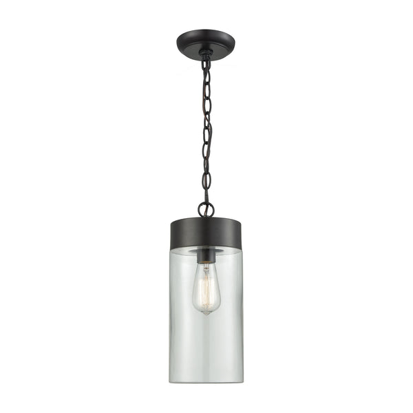 Ambler 1 Light Outdoor Pendant In Oil Rubbed Bronze With Clear Glass