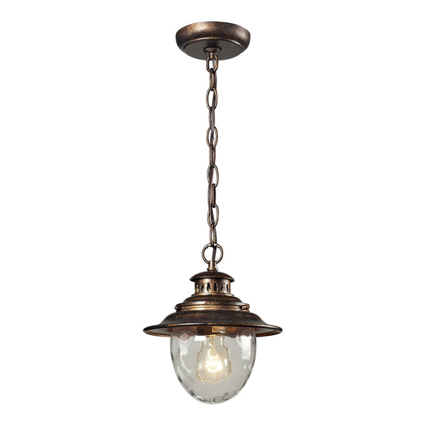 Searsport 1 Light Outdoor Pendant In Regal Bronze