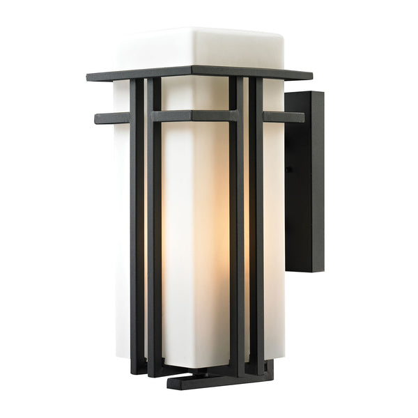 Croftwell 1 Light Outdoor Sconce In Textured Matte Black