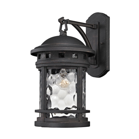 Elk Costa Mesa 1 Light Outdoor Wall Sconce In Weathered Charcoal Outdoor Wall item number 45111/1