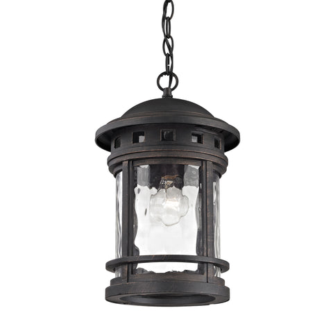 Elk Costa Mesa 1 Light Outdoor Pendant In Weathered Charcoal Outdoor Hanging item number 45113/1