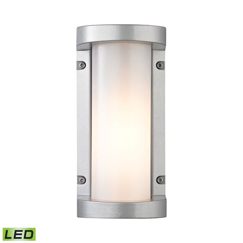 Colby 1 Light Outdoor LED Sconce In Matte Silver