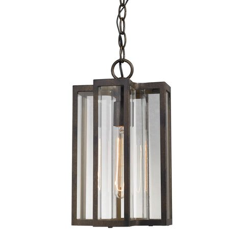 Bianca 1 Light Outdoor Pendant In Hazelnut Bronze