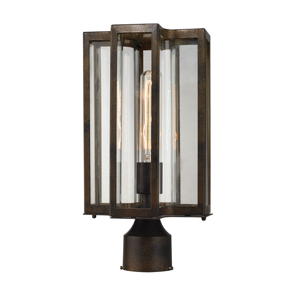 Bianca 1 Light Outdoor Post Lantern In Hazelnut Bronze