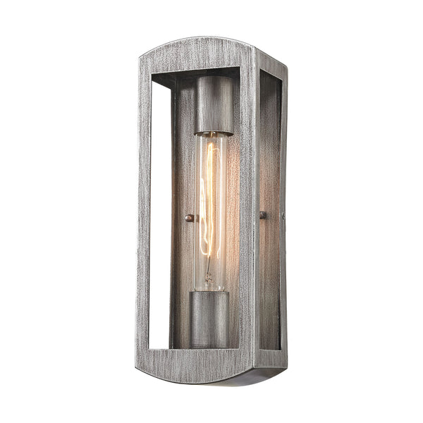 Trenton 1 Light Outdoor Wall Sconce In Silvery Ash