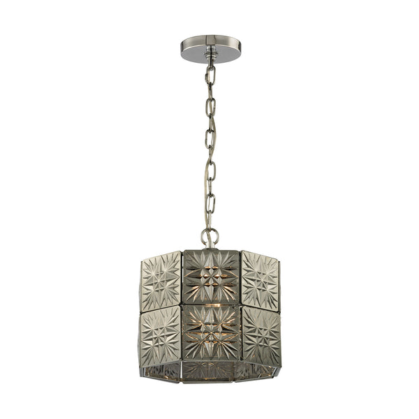 Glass Tile 1 Light Pendant In Polished Chrome