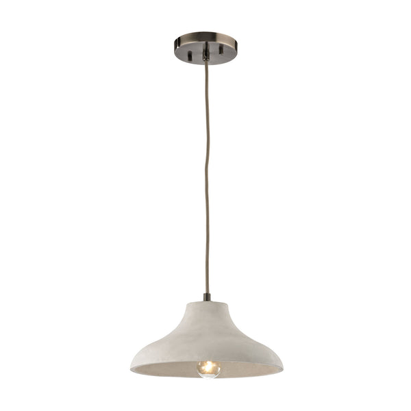 Urban Form 1 Light Pendant In Black Nickel