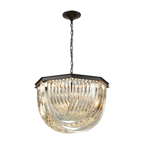Optalique 7 Light Chandelier In Oil Rubbed Bronze