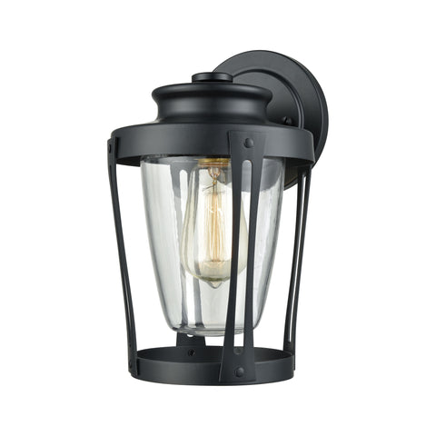 Elk Fullerton 1 Light Outdoor Wall Sconce In Matte Black With Clear Glass Outdoor Wall item number 46090/1