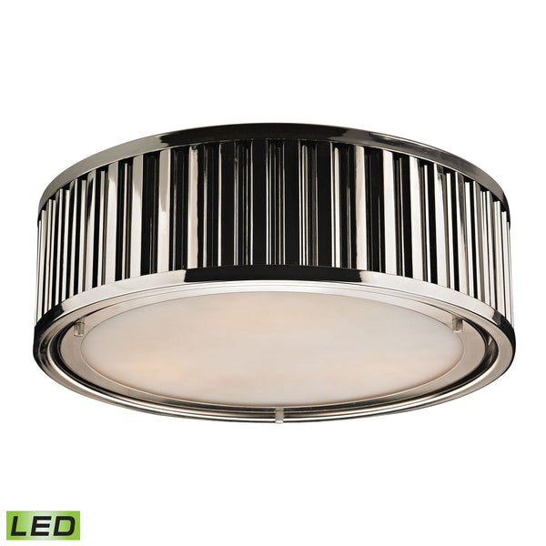 Linden Manor 3 Light LED Flushmount In Polished Nickel